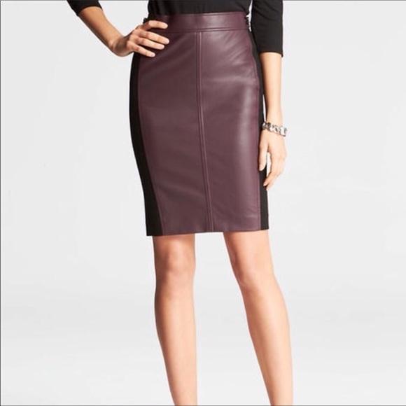 Ann Taylor Dresses & Skirts - 💕Host Pick💕Ann Taylor faux leather skirt.